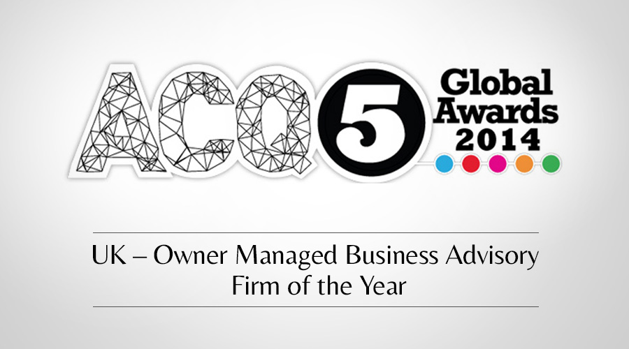 Castle Corporate Finance wins ACQ Global Award 2014