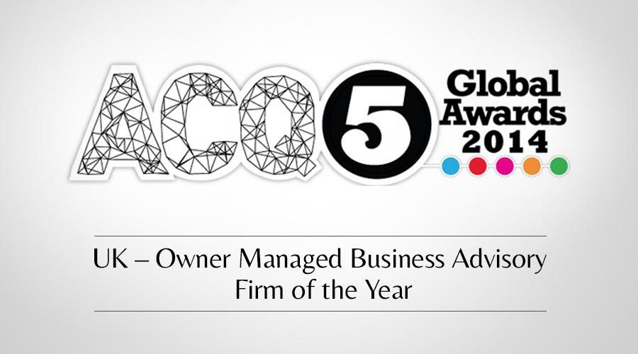 Castle Corporate Finance wins ACQ Global Award 2014