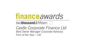 Castle a 2015 Finance Award Winner